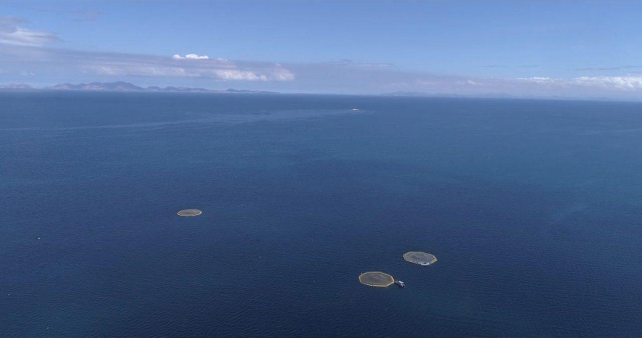 open ocean aerial view